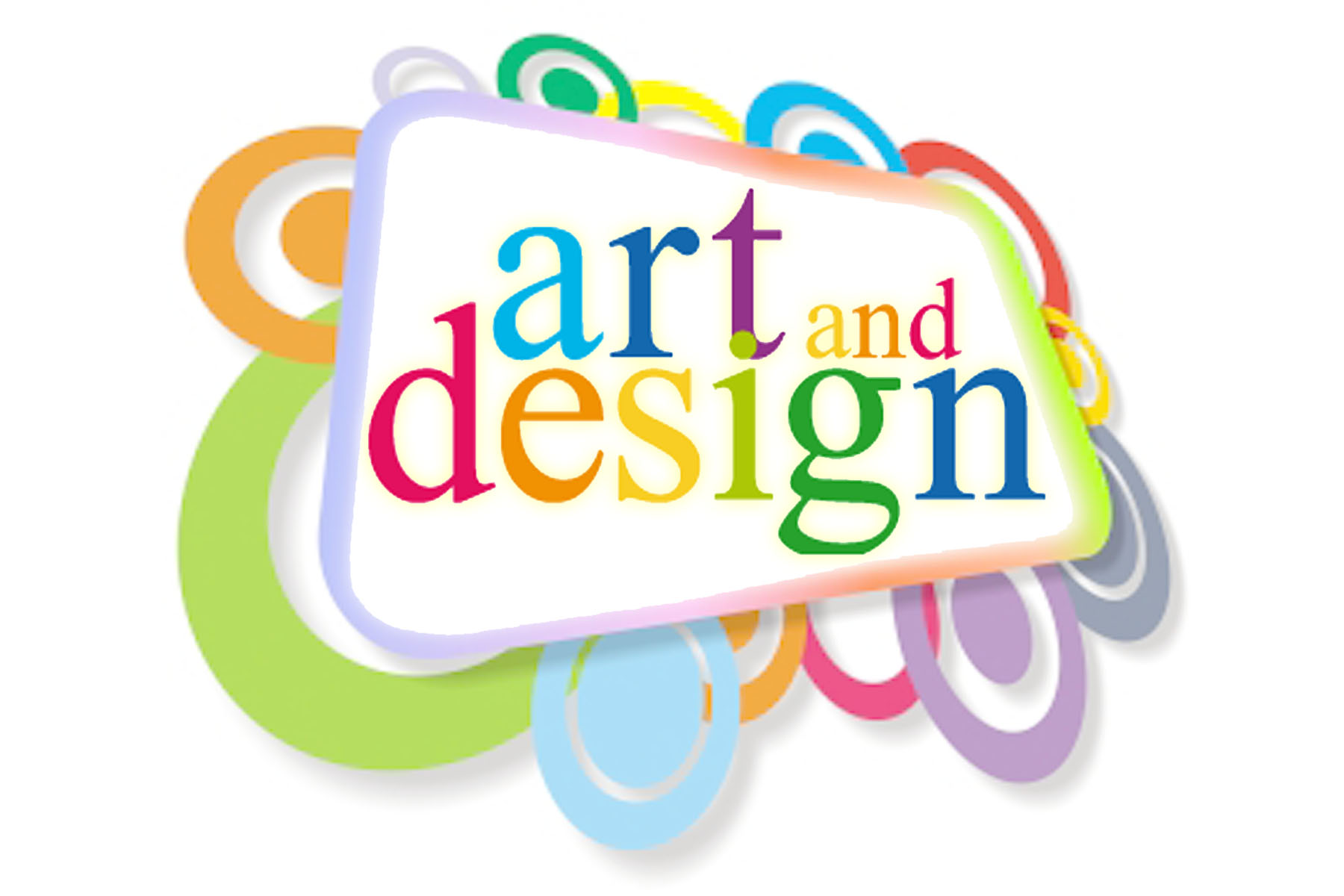 A graphic that says art and design